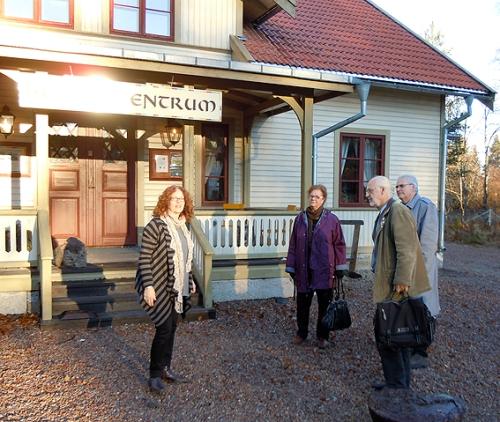 Norberg Nya Lapphyttan. Pim tar emot Ekomuseums styrelse