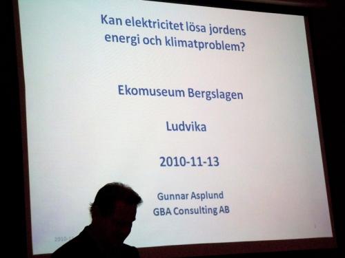 Gunnar Asplunds inledning på sitt föredrag.