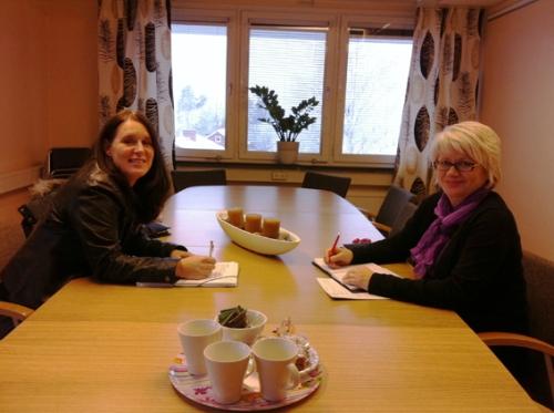 Eftermiddagsmöte på kommunkontoret i Fagersta.