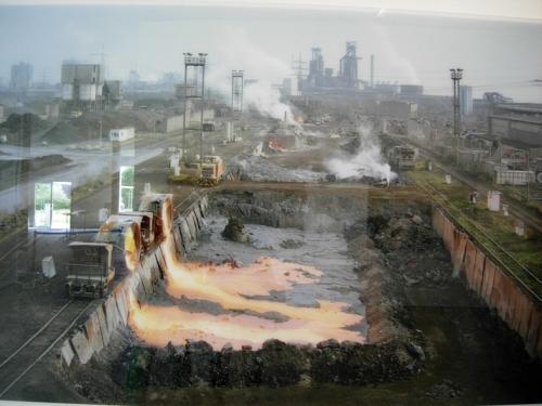 """Foto från utställningen """"Ruhr Blicke"""" på Världsarvet Zeche Zollverein i Essen."""