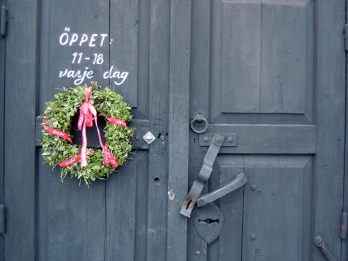 Ekomagasinet på Västanfors hembygdsgård i Fagersta. Foto ChL.