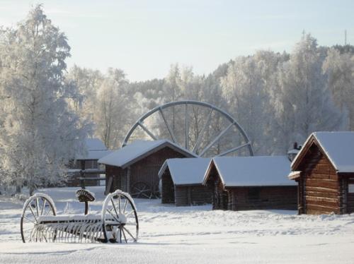 Östanbergshjulet på Ludvika Gammelgård. Foto Ch Lindeqvist.