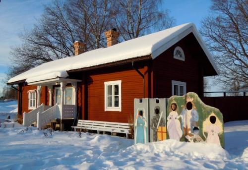 Rune Lindström-huset på Västanfors hembygdsgård. Foto Ch Lindeqvist.