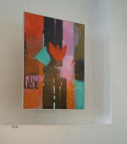 """Irene Samuelsson Ohlanders målning """"Tillstånd I"""" i Gamla Meken, Smedjebacken"""