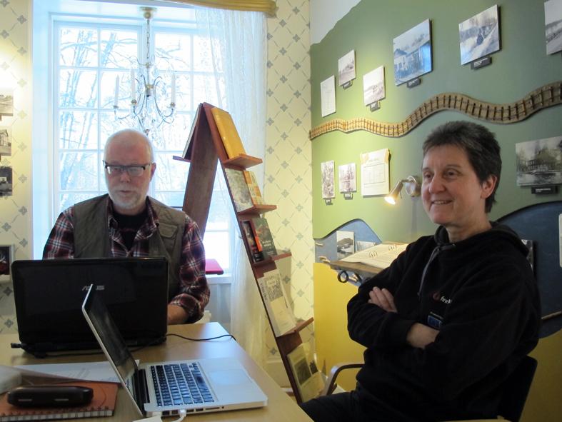 Här är projektledarna Lars Findahl från Gävle och Susanne Andersson från Fredriksberg.