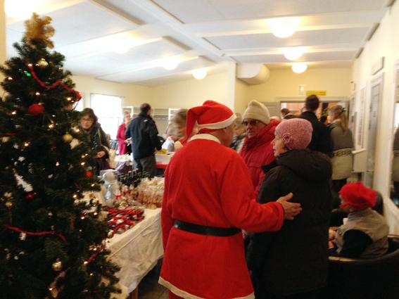 Julmarknad i Ludvika på Gammelgården.