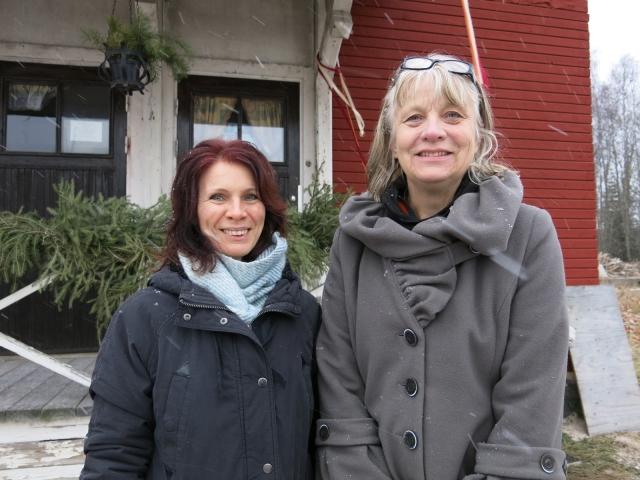 Annica Eriksson från Grängesbergs byalag OCH Gigi Karlestedt från kulturförvaltningen i Ludvika