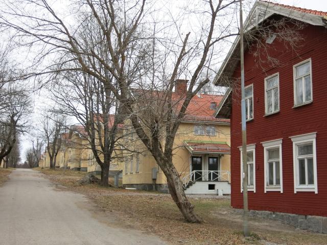 Högra raden av hus