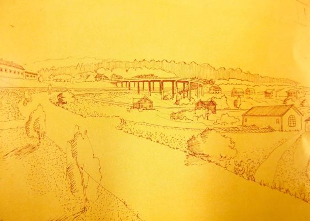 Cyrillus plan för korsningen Faluvägen-Grangärdevägen
